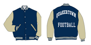 Quakertown Leather sleeve Varsity Jacket