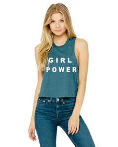 GIRL POWER RACERBACK CROPPED TANK