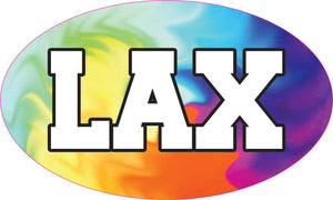 Tye Dye Swirl LAX Sticker