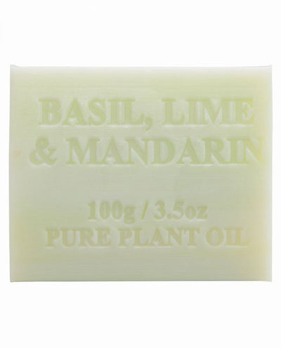 Australian Made Soap 100g - Basil, Lime & Mandarin