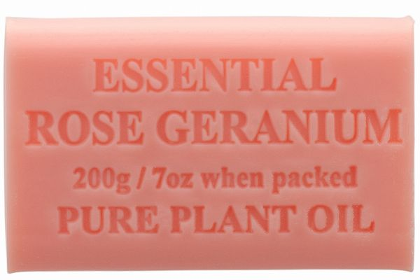 Australian Made Soap 200g - Essential Rose Geranium