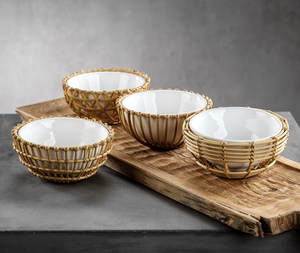 Bamboo Condiment Bowls