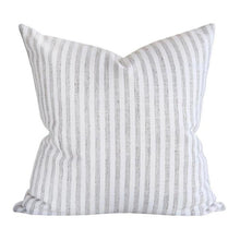 Load image into Gallery viewer, Classic white and taupe stripe pillow