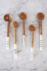 olive wood and bone spoons abode shoppe