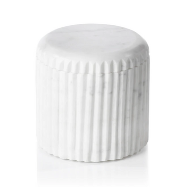 Reeded Marble Canister
