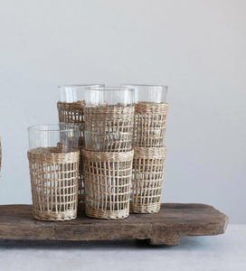 Seagrass Woven Drinking Glasses
