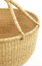 Load image into Gallery viewer, oversized bolga basket perfect for storing blankets, baskets and toys