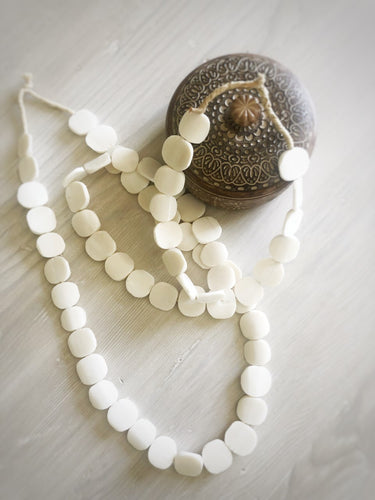 mykonos beads white bone beads