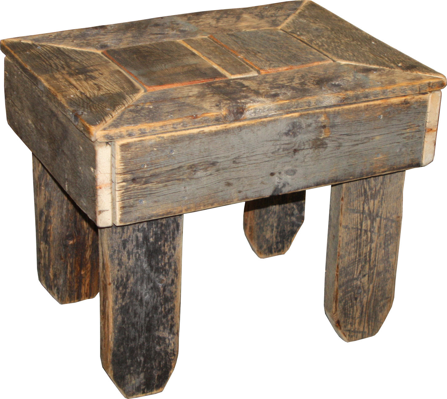 Barnwood Side Table 27""