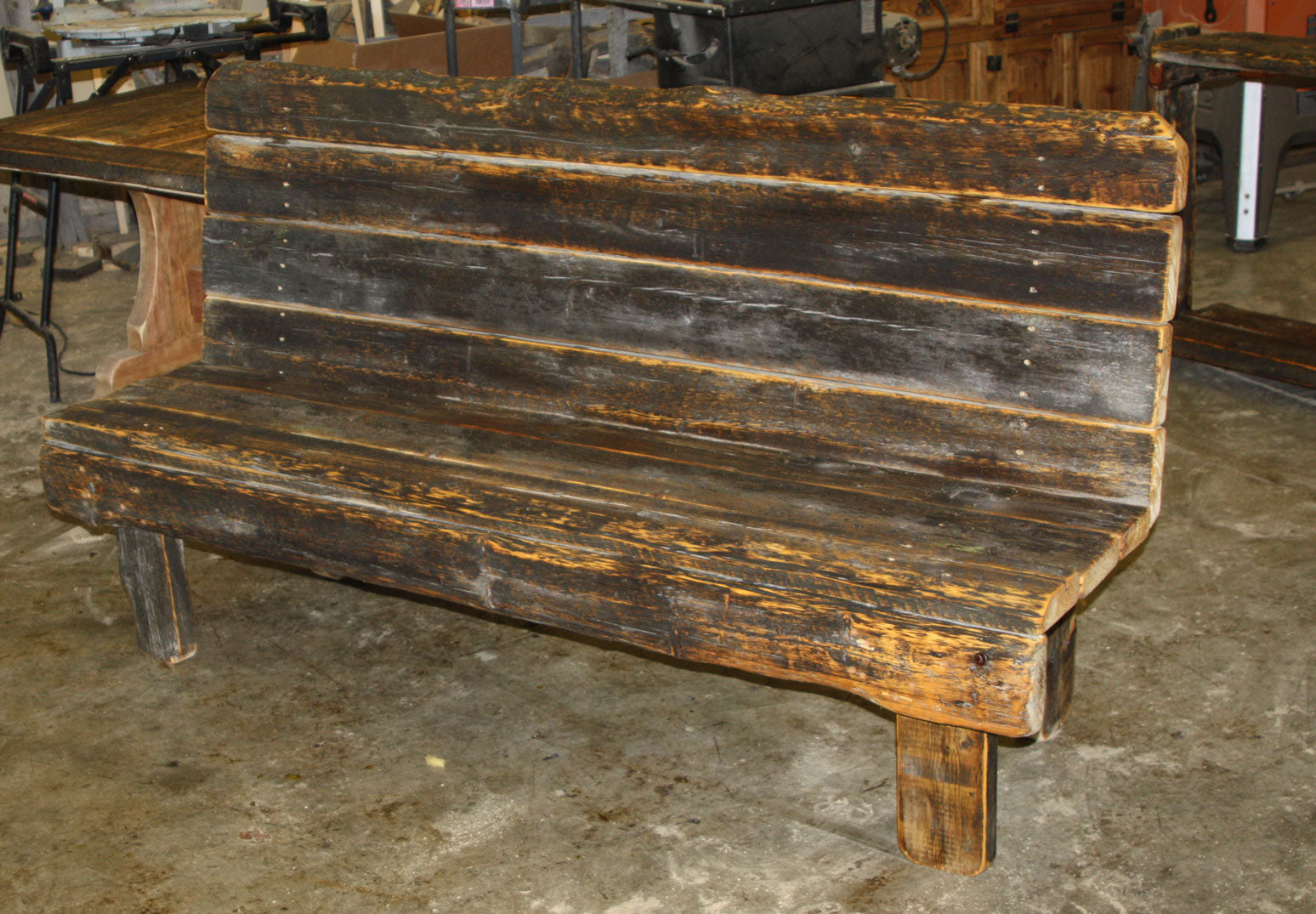 Barnwood Triple Bench