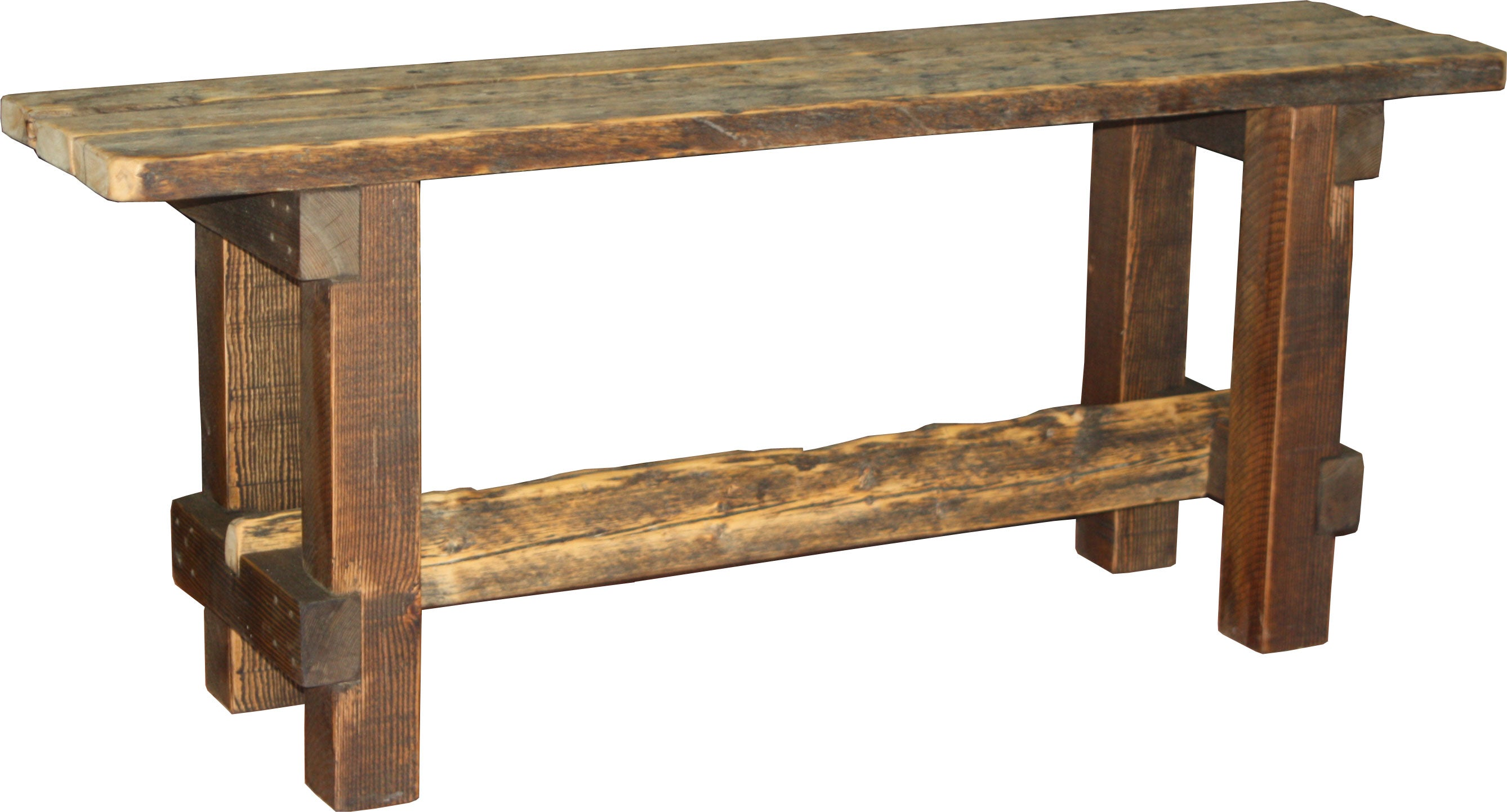 Barnwood Console Table, Style #3