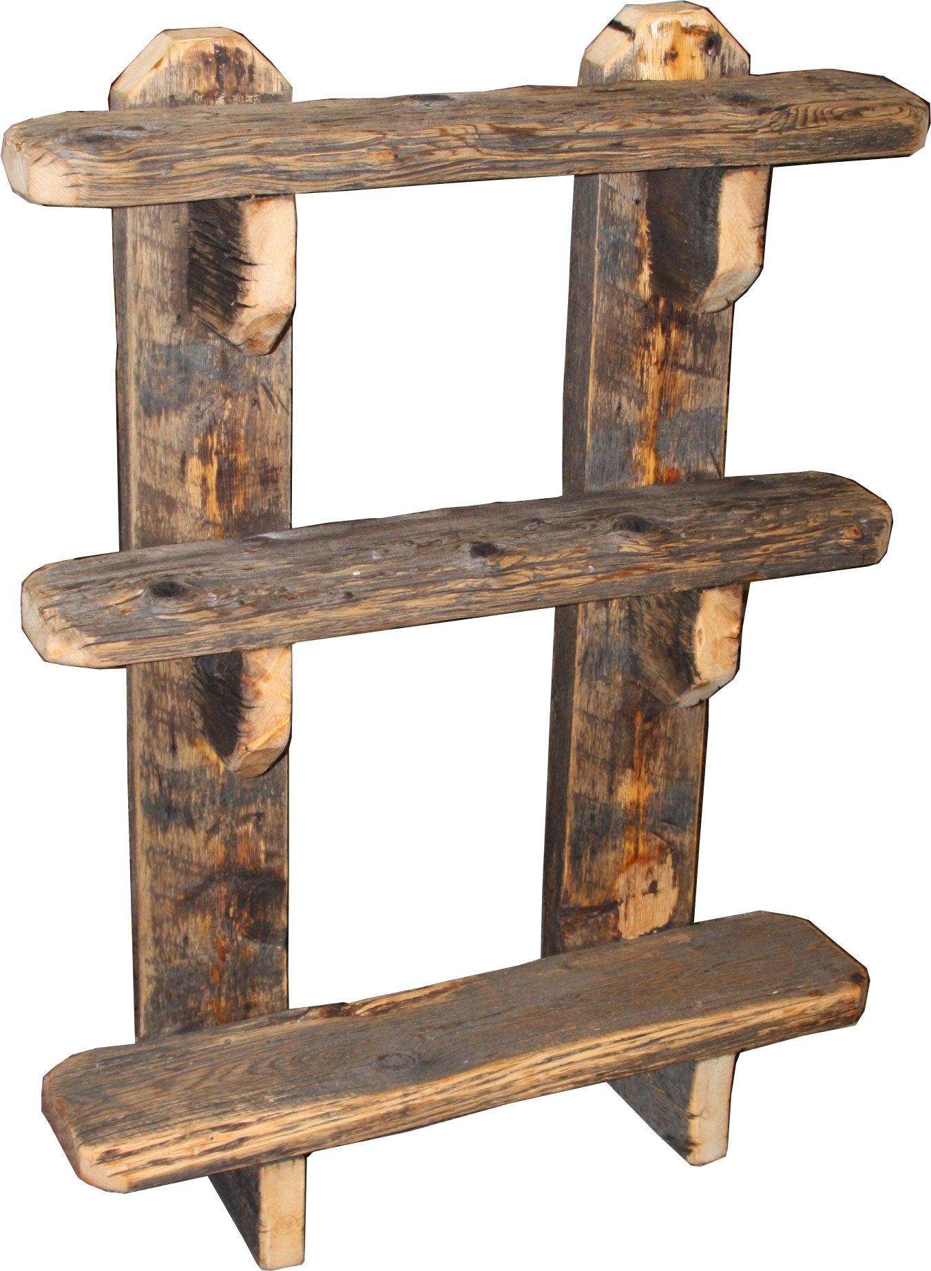 Barnwood Open Shelf Bookcase