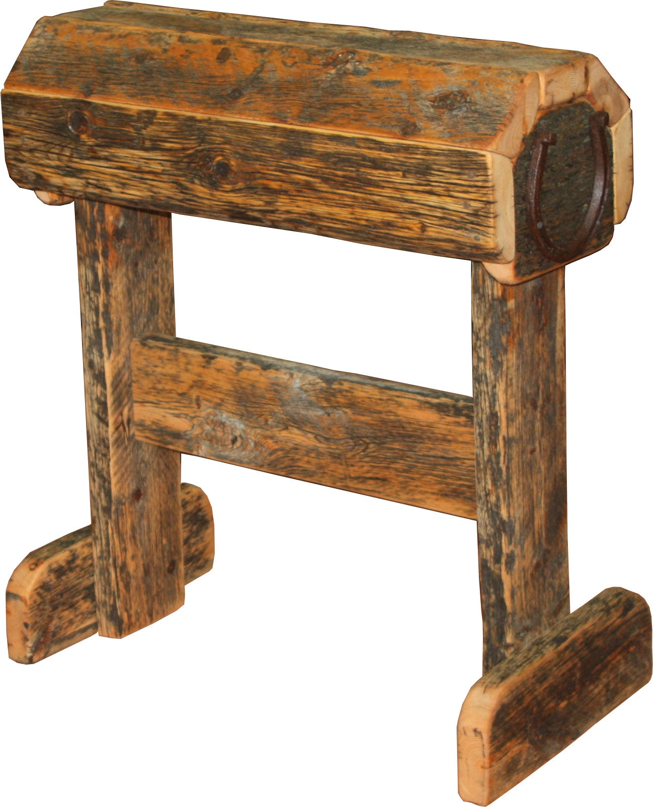 Barnwood Saddle Stand