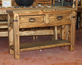 Antigua Console Table 2 Drawer