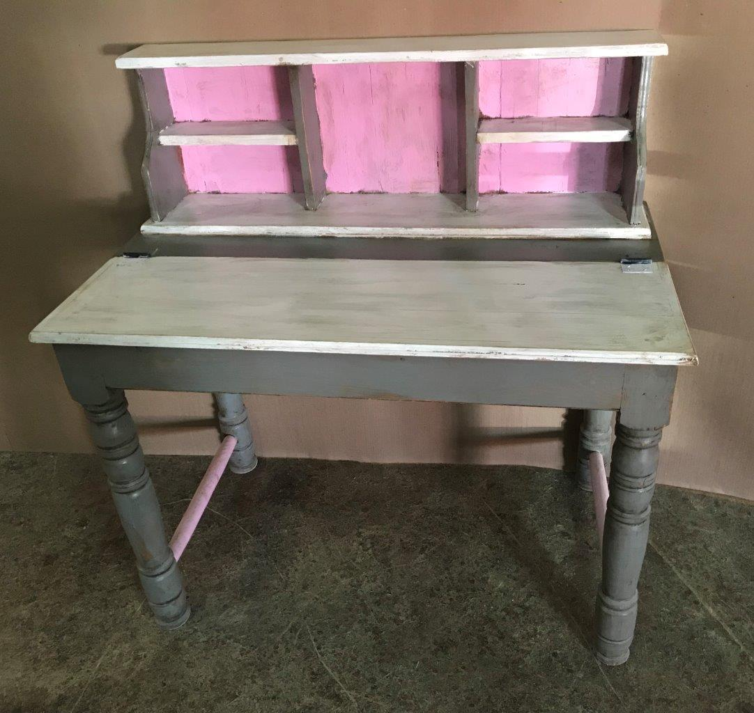 Pupitre Desk Pink, Grey & White
