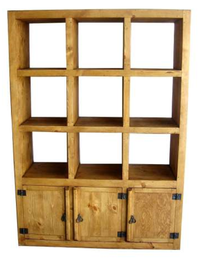 Cubo Bookcase Two Tone Nogal White