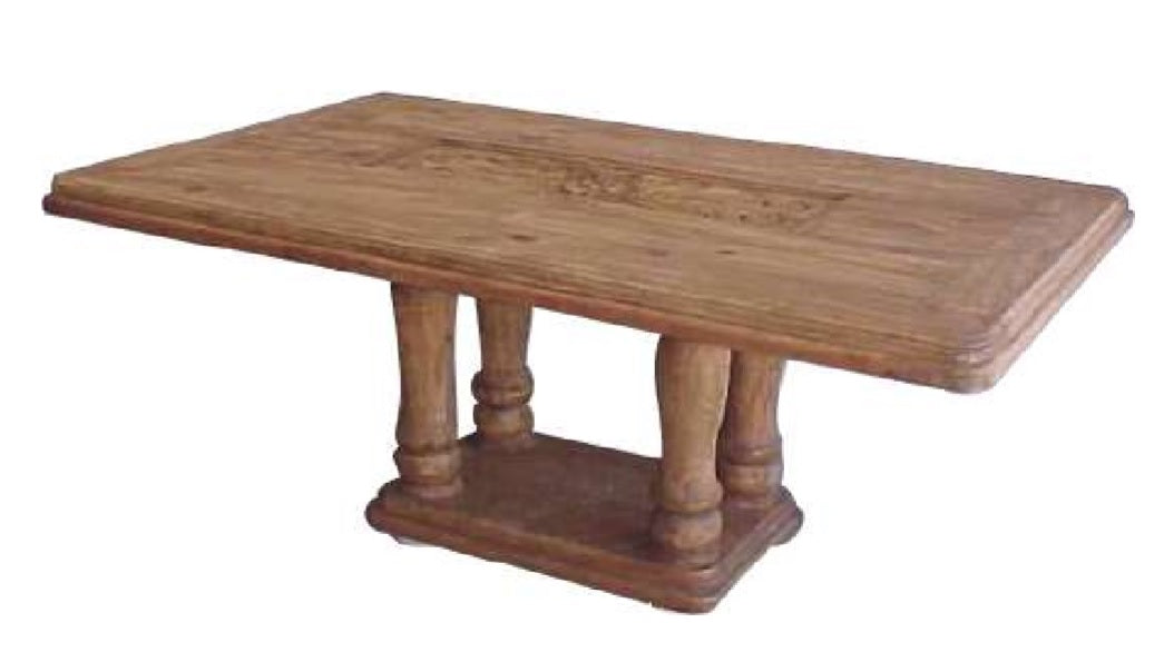 Alis Dining Table with Carved Top