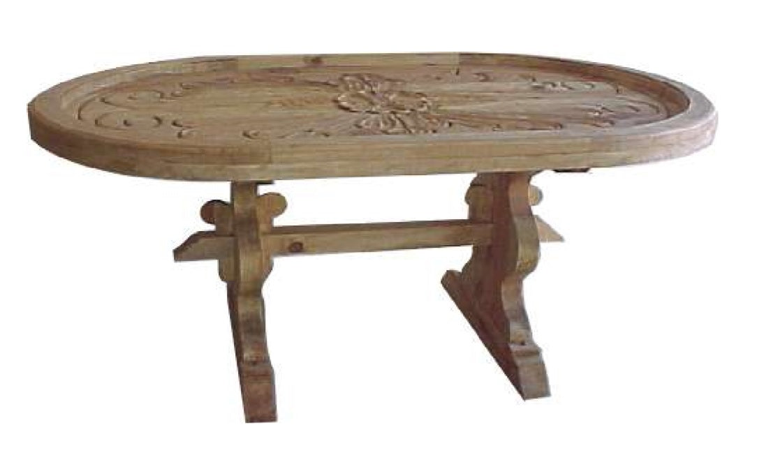 Tallada Dining Table with Carved Top