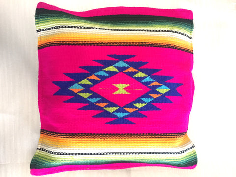 Aztec Throw Pillow Fushia