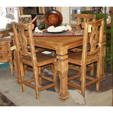 Antique Dining Table Counter Height