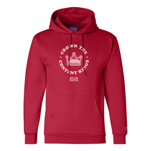 Crown the Content Kings - Red Champion Hoodie