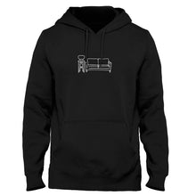 Load image into Gallery viewer, Couch & Stool - Black Hoodie