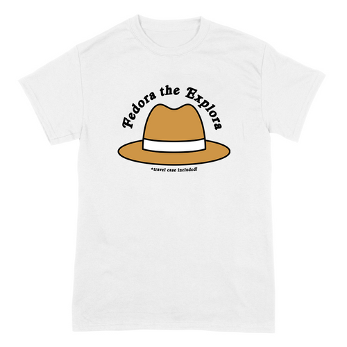 Fedora The Explora on White - Two Sided