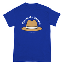 Load image into Gallery viewer, Fedora The Explora on Royal Blue - Two Sided
