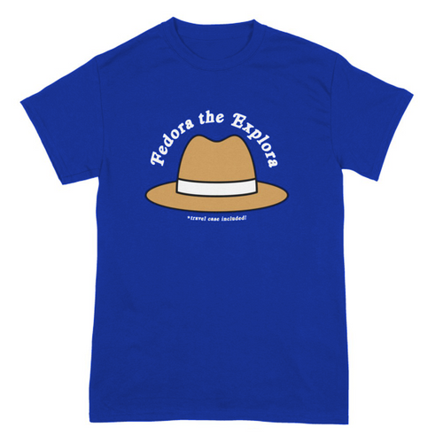 Fedora The Explora on Royal Blue - Two Sided
