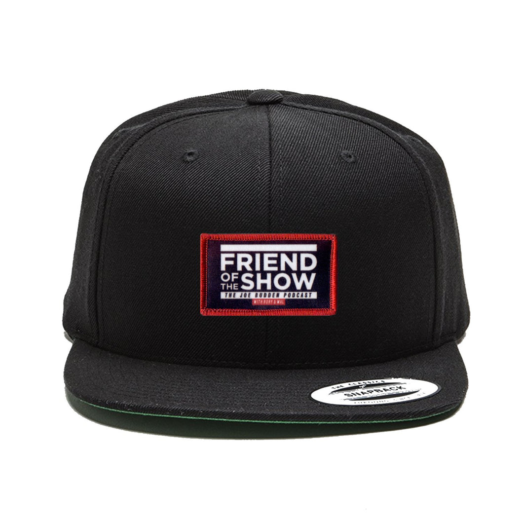 Friend Of The Show Black Snapback Patch Hat