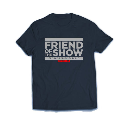 FRIEND OF THE SHOW T-SHIRT - Grey on Navy Blue
