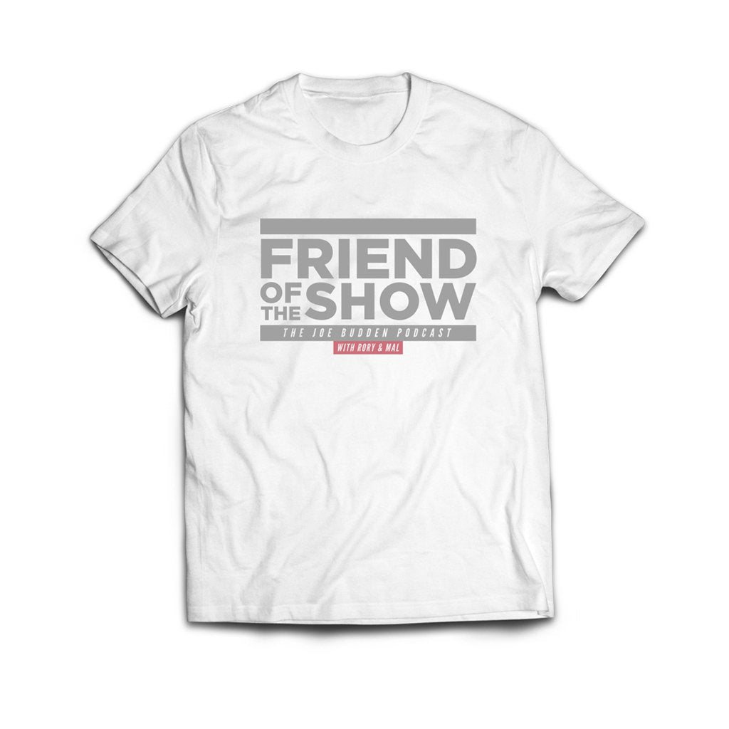 FRIEND OF THE SHOW T-SHIRT - Light Grey on White