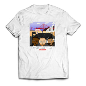 Friend Of The Show Caricature #2 With Background Tee - on White