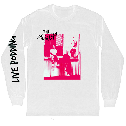 Live Podding - White Long Sleeve Tee
