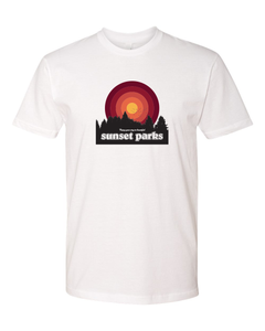 Sunset Parks - White Tee