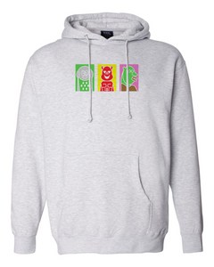 Poster Trio - Grey Heather Hoodie