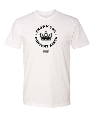 Crown the Content Kings - White Tee