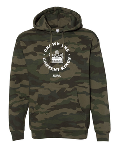 Crown the Content Kings - Forest Camo Hoodie