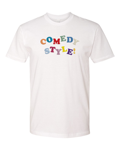 Comedy Style - White Tee