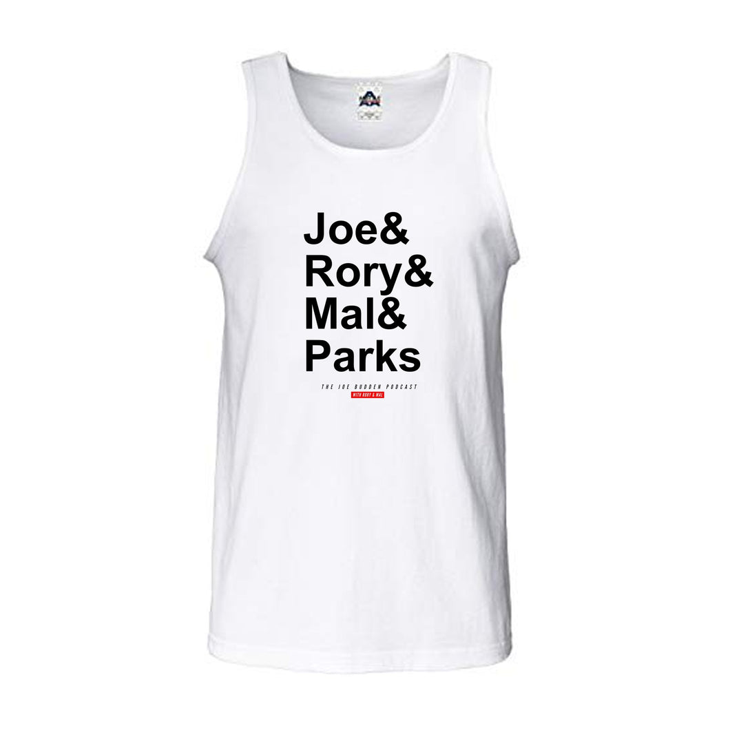Joe & Rory & Mal & Parks Men's Tank - White