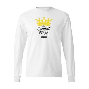 The Content Kingz - White Long Sleeve Tee