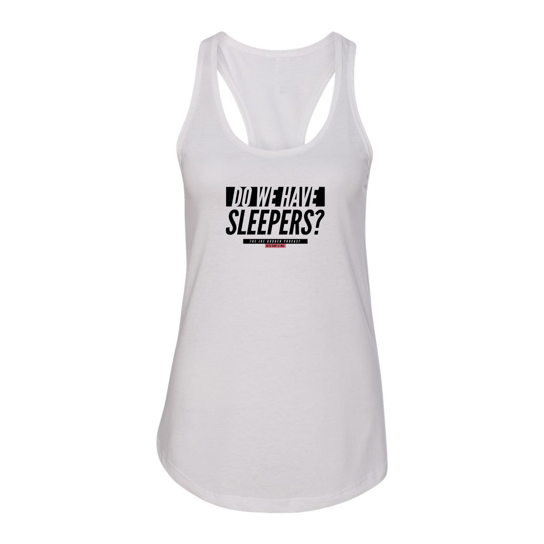 Do We Have Sleepers Women's Racer Back Tank - White