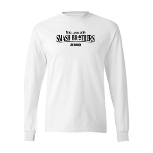 Mal & Joe - Smash Brothers - White Long Sleeve Tee