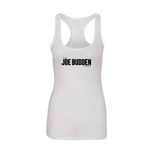 Joe Budden Podcast Logo - Women's Racer Back Tank - White