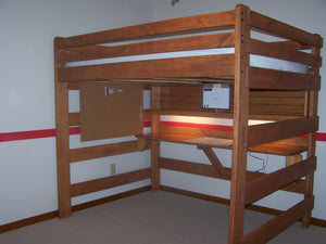 Full Loft Bed with Study Center
