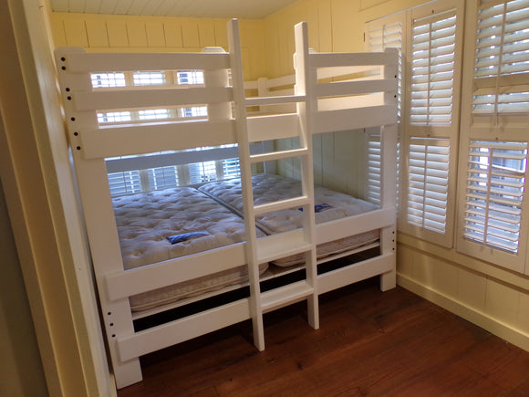 Custom King over King Bunk Bed with ladder