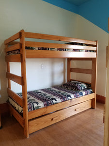Twin Over Twin Bunk Bed With Storage Drawers or Trundle