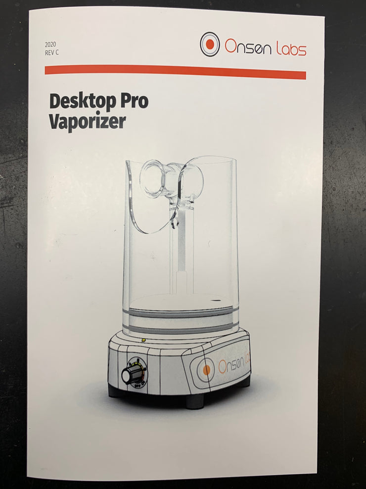 Instruction Manual (Printed) for Desktop Pro Vaporizers