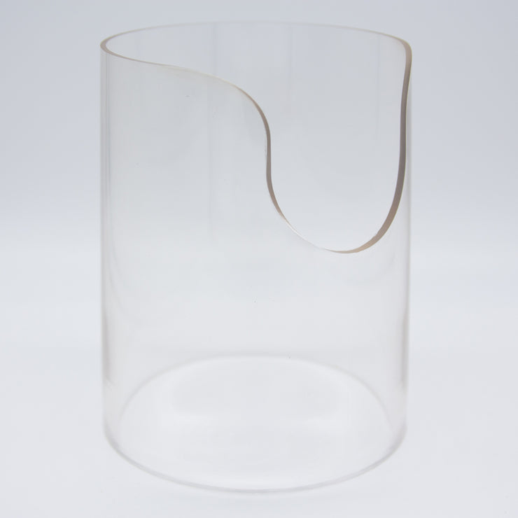 Onsen Labs Poly-Carbonate (Clear Plastic) Heat Shield for Desktop Pro and Desktop Pro Elite Vaporizers front angle view