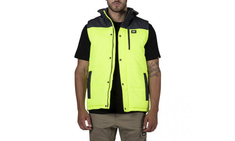 HI-VIS HOODED WORK VEST